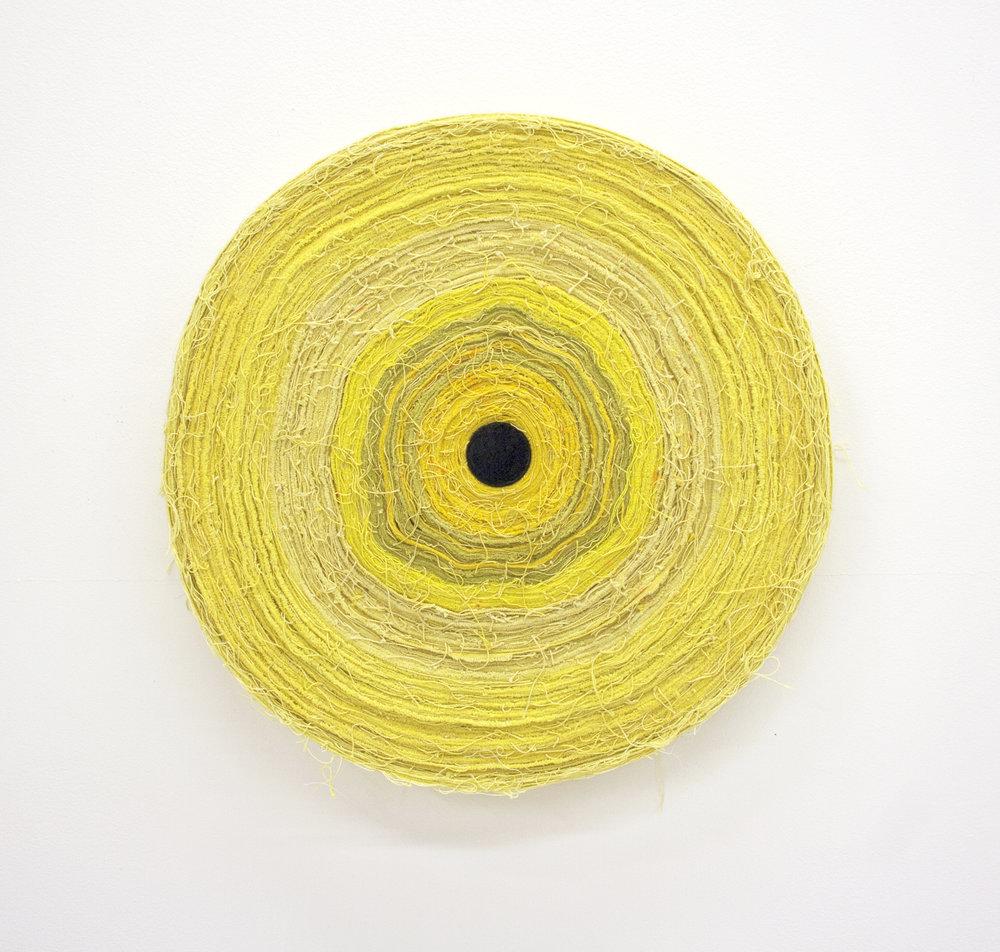 Moody Room  , 2014  dyed canvas, thread, enamel on wood