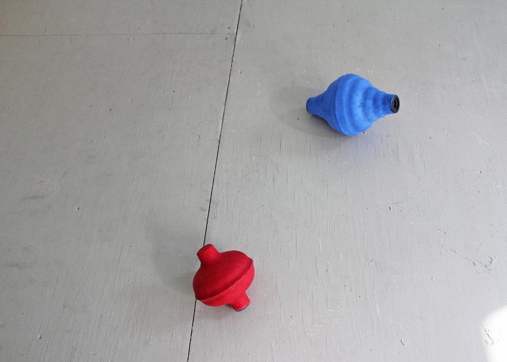 Untitled (plungers  ),  2015    rubber, paper mache, casein