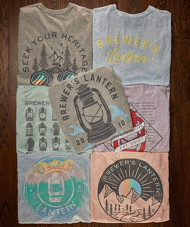 Check out a few of our favorite @brewerslantern tees! Stop by and grab a few, it's the softest tee you'll ever own! #brewerslantern