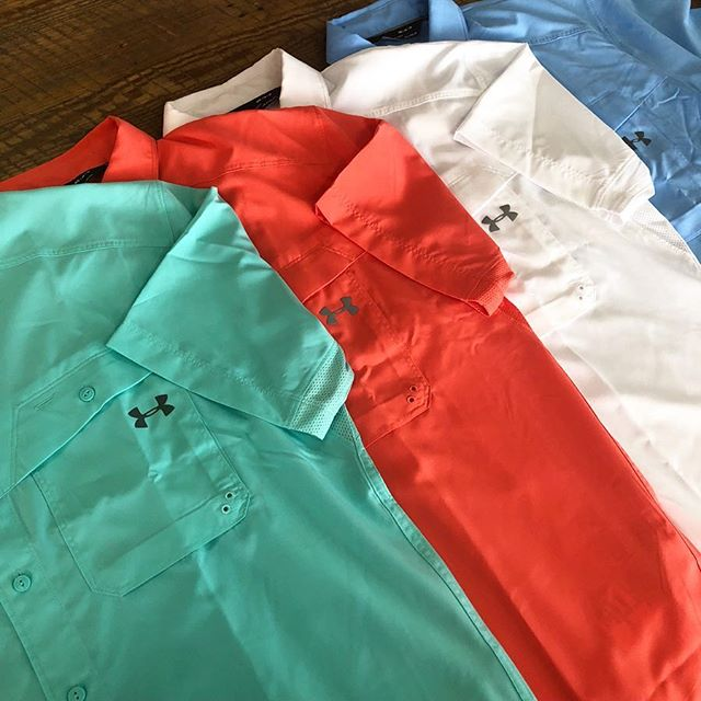 These Under Armour shirts are perfect for hiking, fishing, and more! Made with UPF 30 and made to keep you cool! #underarmour