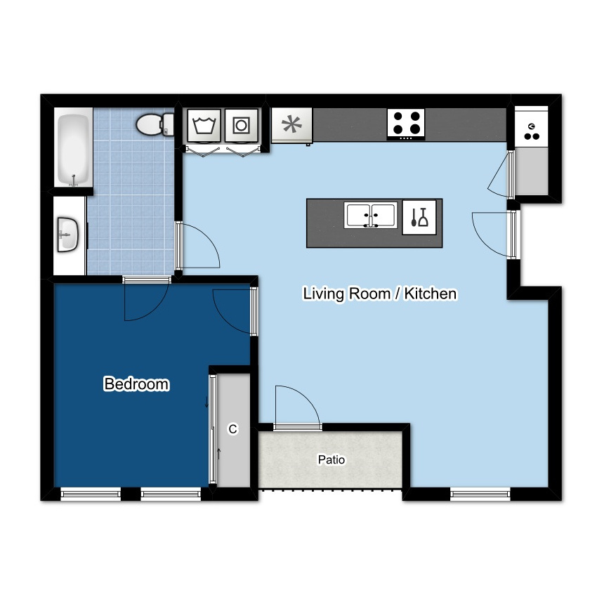 1 BED | 1 B  ATH | 650 SQ FT