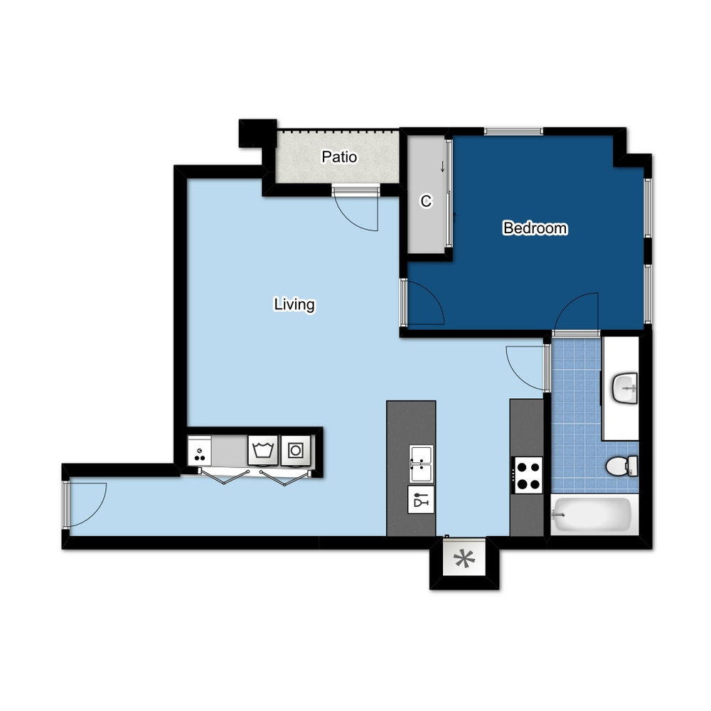 1 BED | 1 BATH | 650 SQ FT