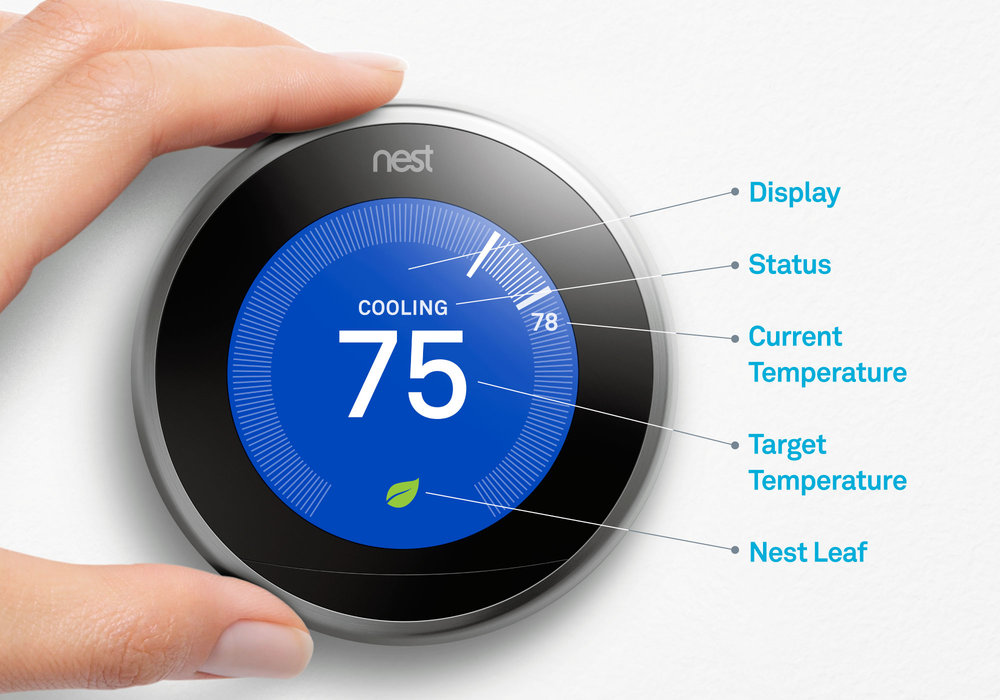 Nest Thermostat Gen3 Temp Screen