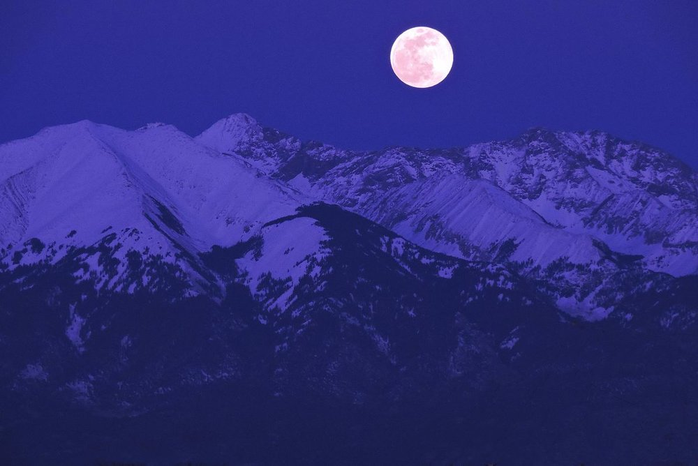 Photo: Moonrise Over Blanca Peak byNPS/Patrick Myers