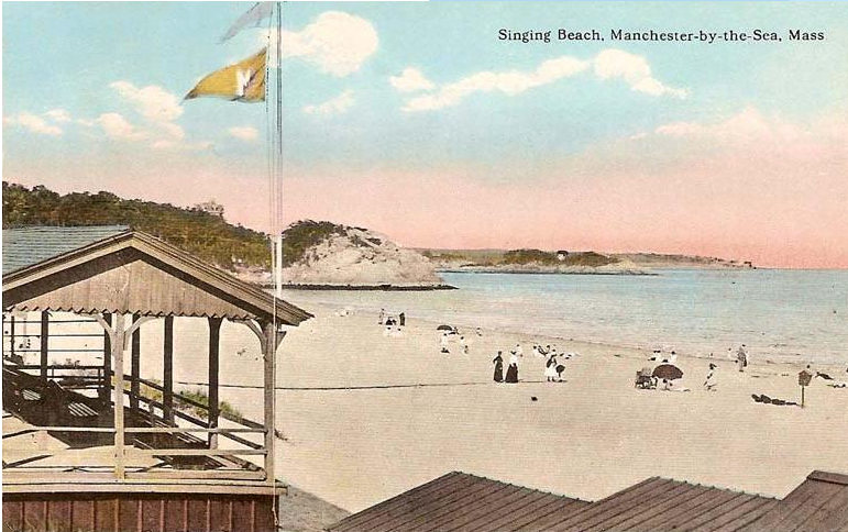 Historic Postcard of Singing Beach, posted on Town of Manchester Parks and Recreation Department webpage, accessed February 2015.