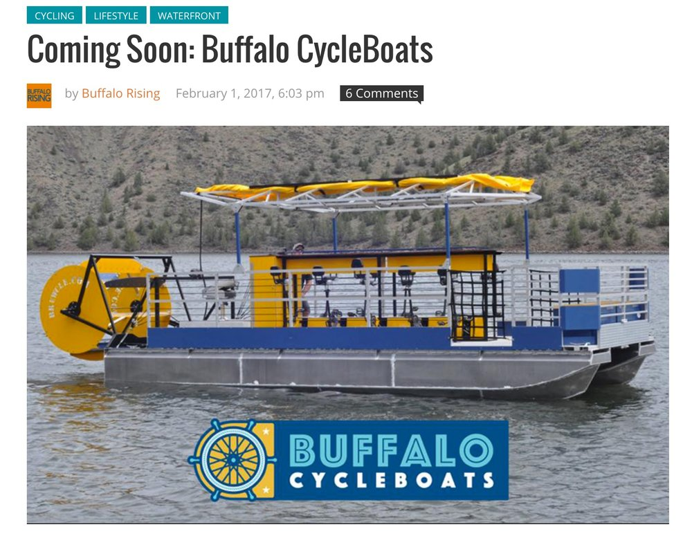 Buffalo CycleBoats in Buffalo Rising