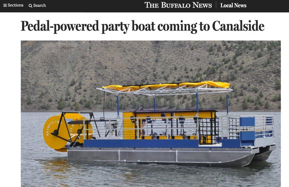 The Buffalo News Talks Pedal Boats