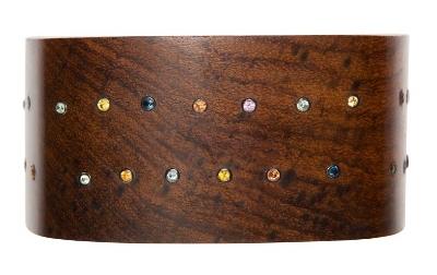 MCL Sapphire & Wood Bangle
