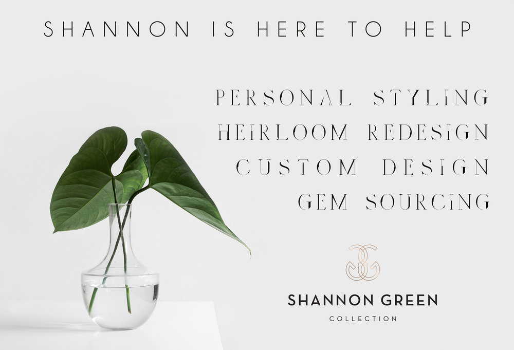 """Our Naples Florida Showroom may be closed for summer, but Shannon is still here to help. We can help you design the ring you've always dreamed of. Or, we can help you redesign heirloom pieces, keeping the pieces you love- (from the people you love)- in your daily rotation. Simply say """"hi"""" by clicking  HERE"""