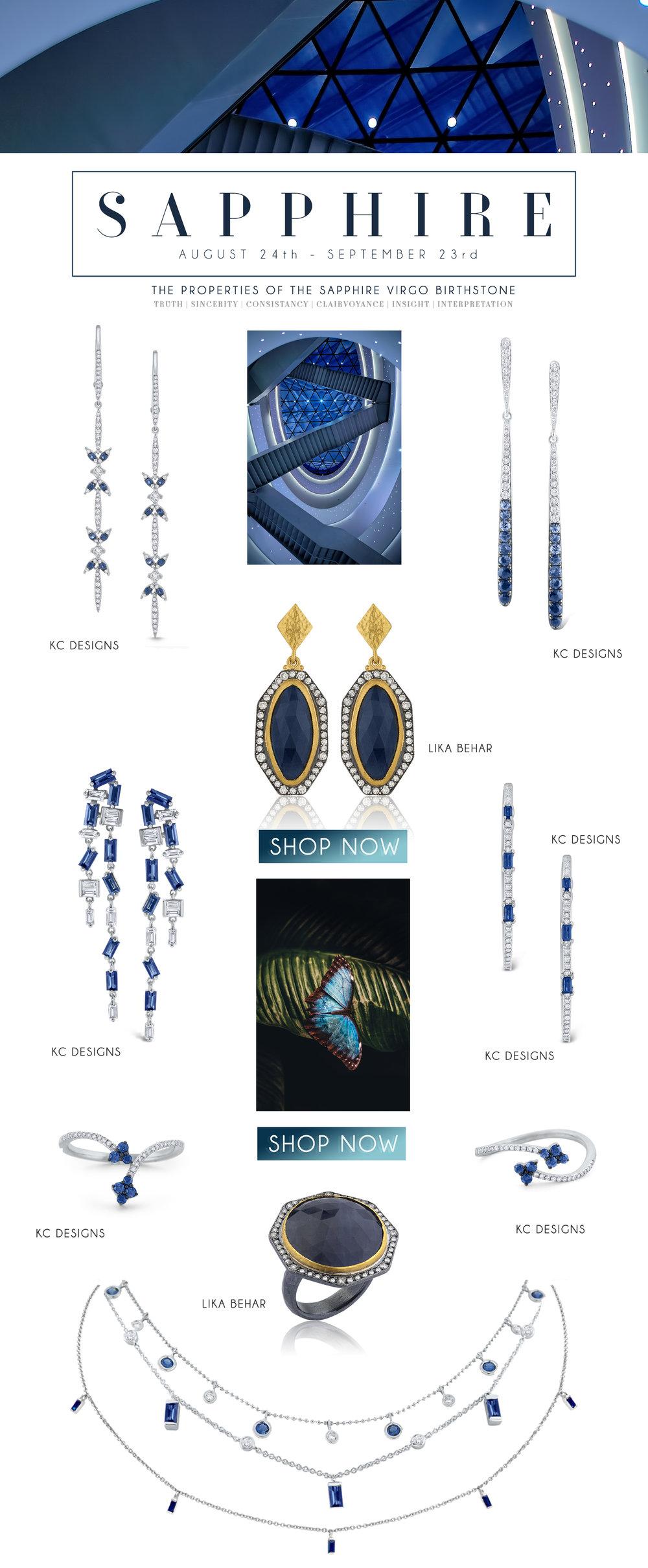 Shop Sapphire birthstone jewelry  HERE