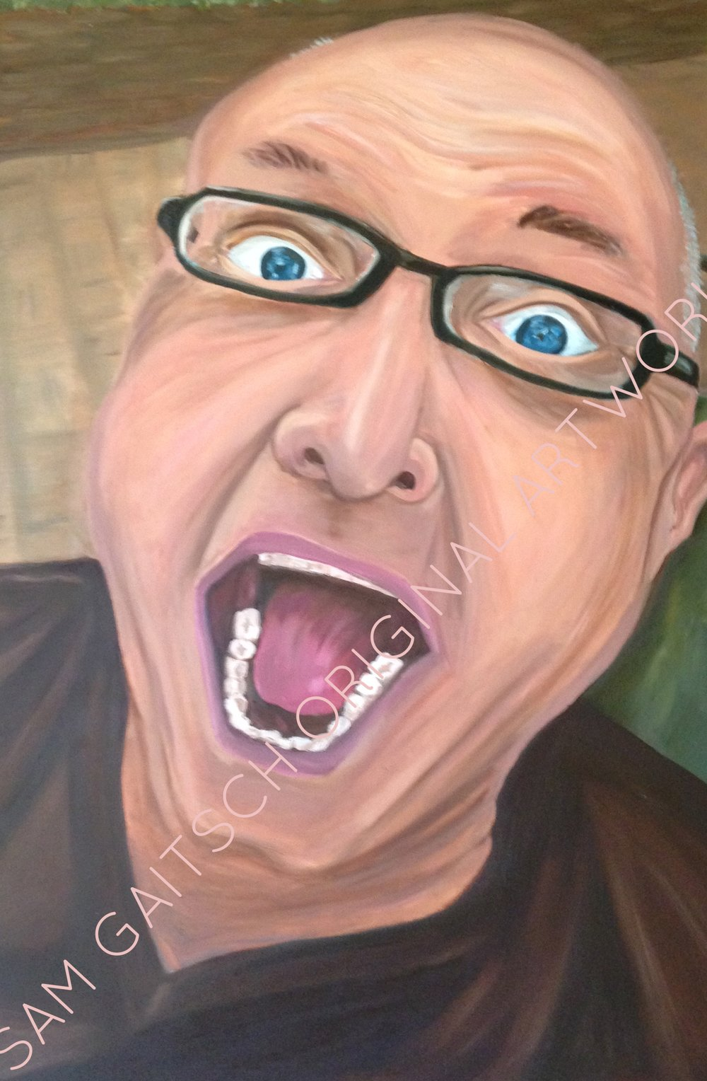"Bruce (2011)  36""x48"" Oil on Canvas"