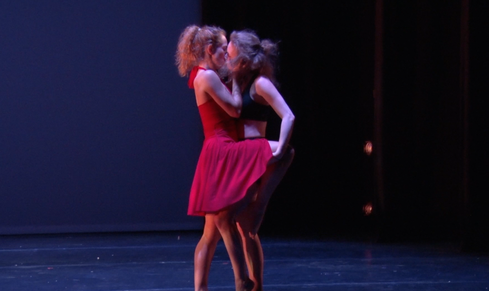 Julia Osteen and Sam Gaitsch in their duet