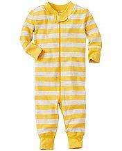 yellow striped pajamas