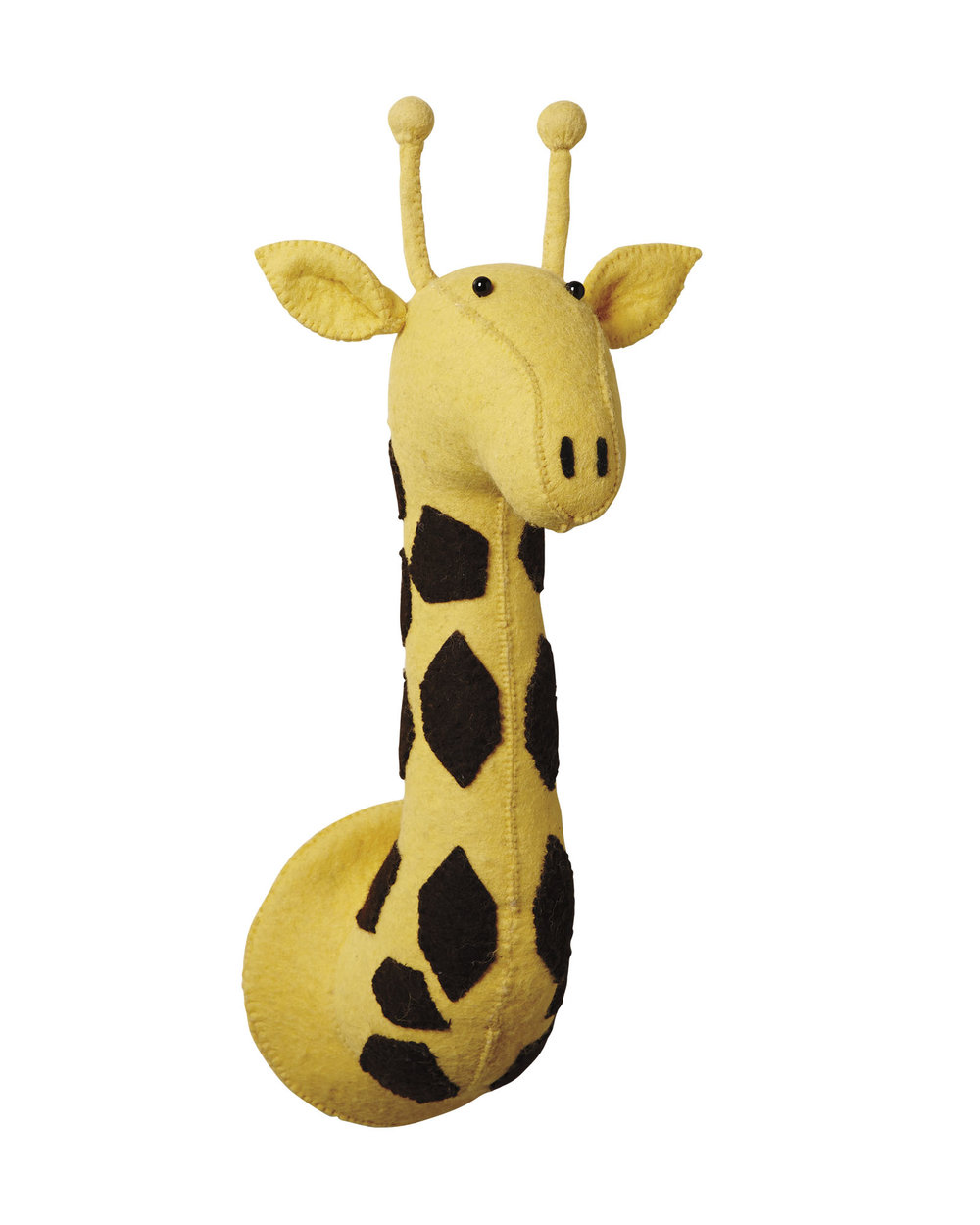 mounted stuffed giraffe