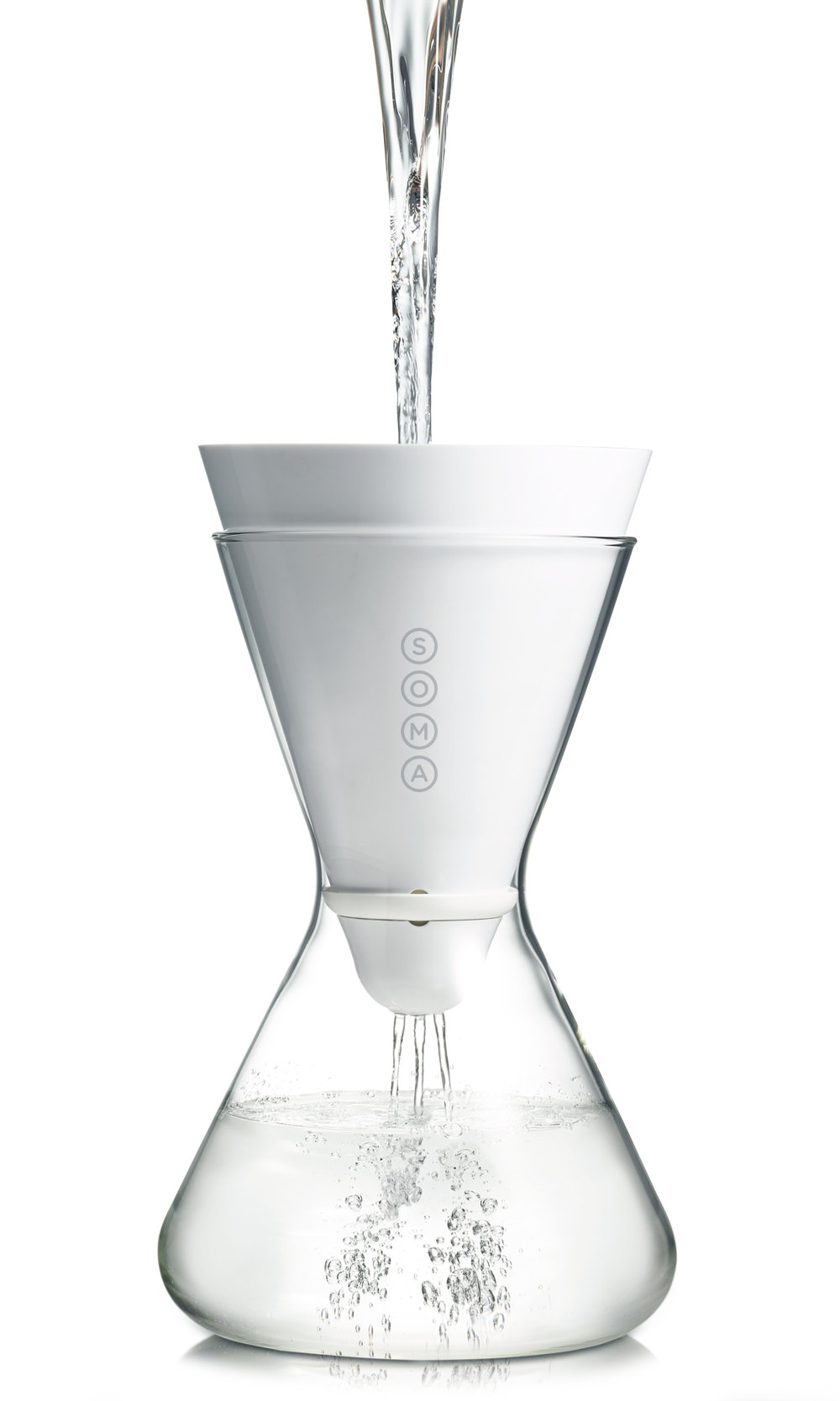 filtered glass water carafe