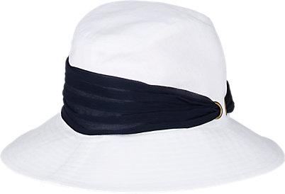 grosgrain ribbon-trimmed hat