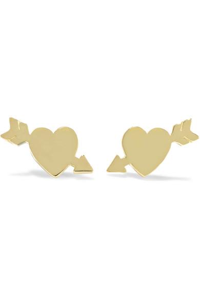 18 karat stud earrings