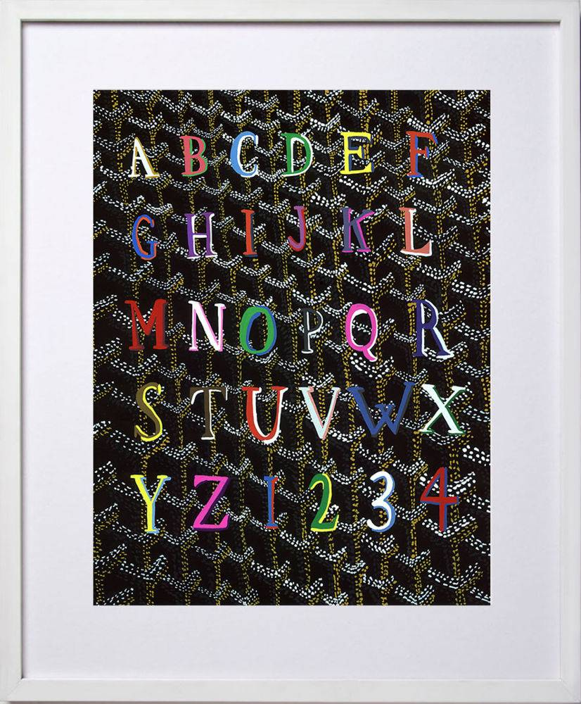 framed goyard abc print