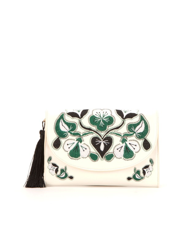 cynthia rowley vegan leather clutch