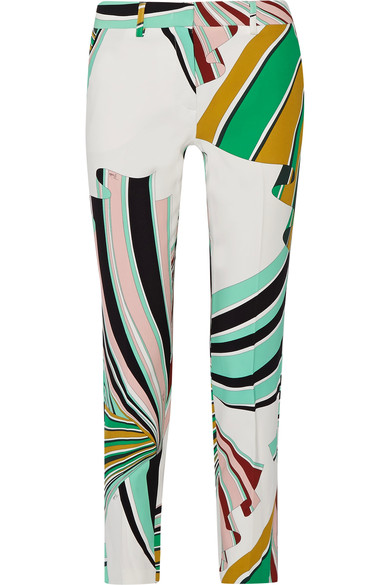 pucci print trousers