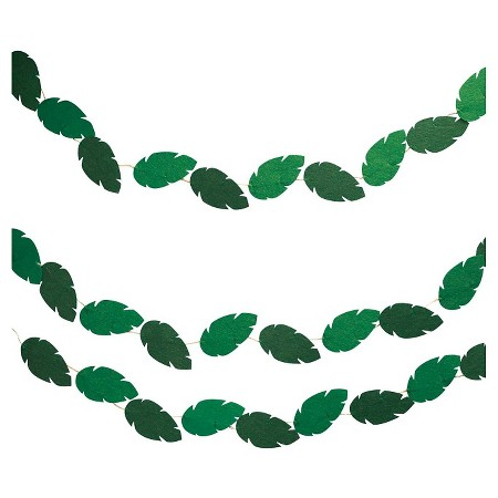 green leaves party banner