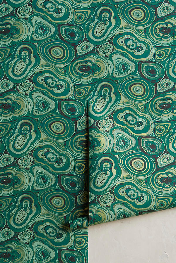anthropologie malachite wallpaper