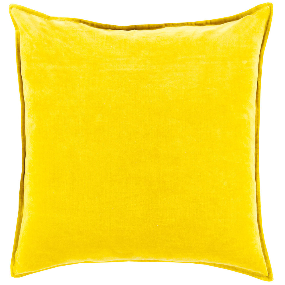 yellow velvet throw pillow