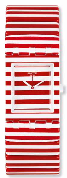 red + white stripe swatch