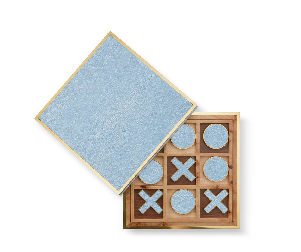 aerin shagreen tic-tac-toe set