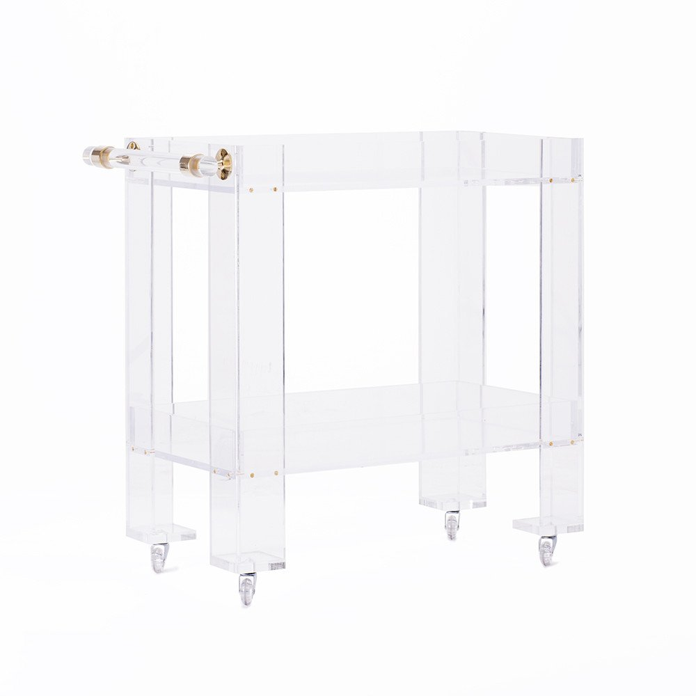 katie kime lucite bar cart