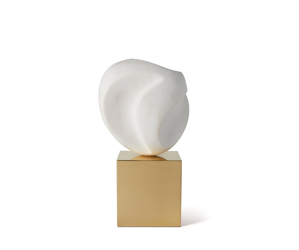 aerin ceramic + brass sculpture