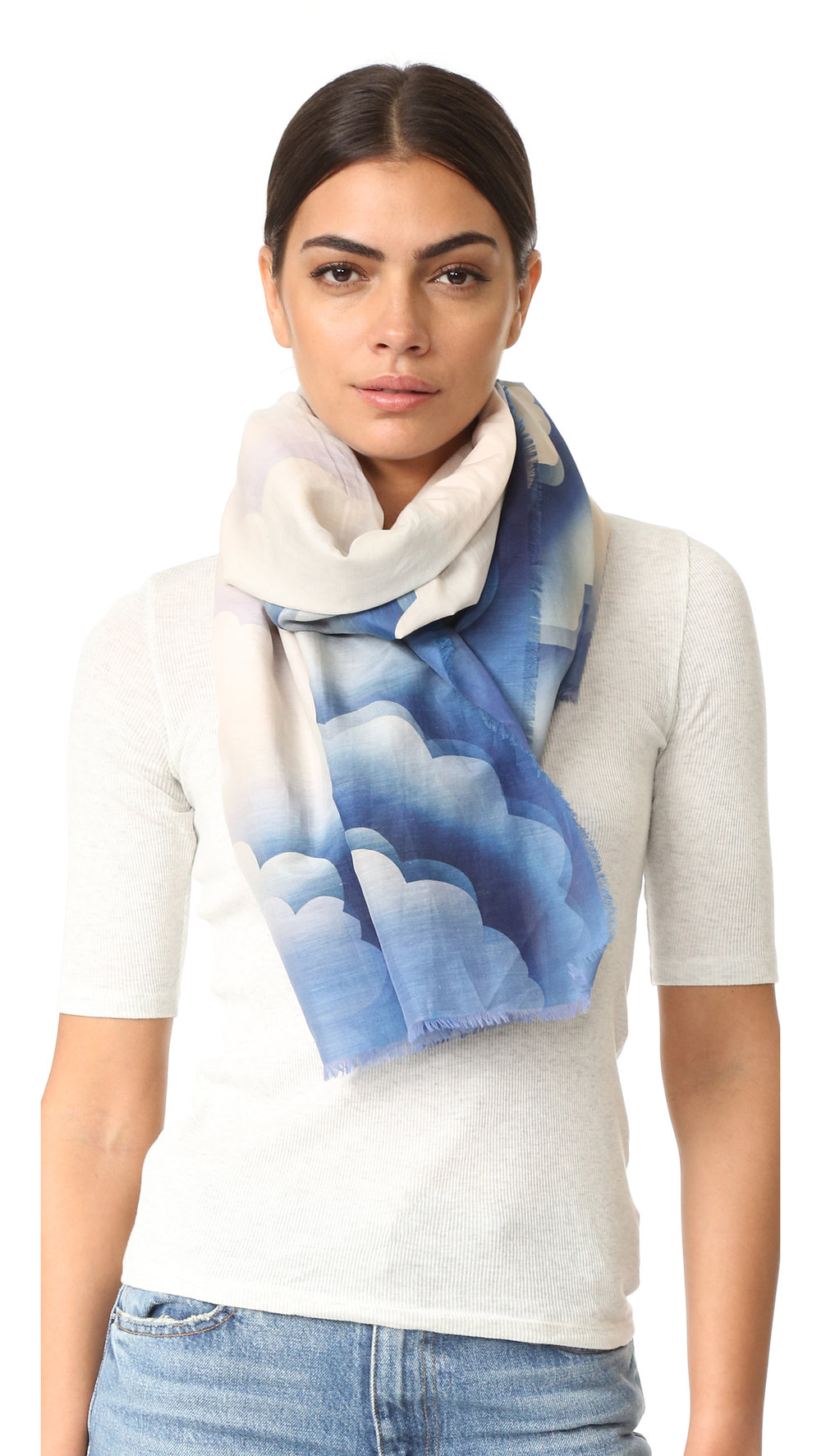 cloud sateen stole