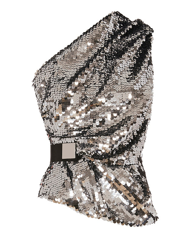 carven sequin top