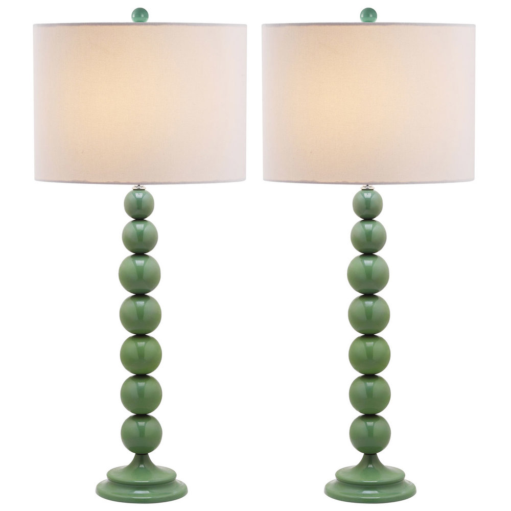 green lamps