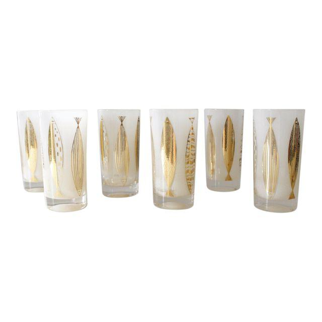 set of 6 vintage glasses