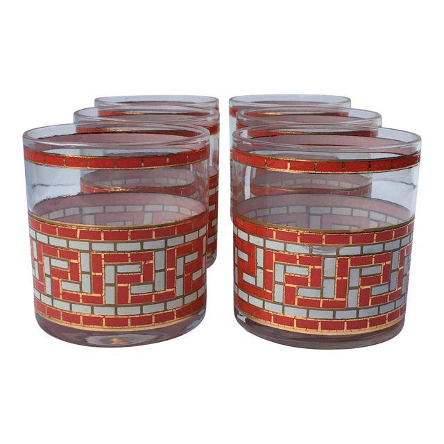 vintage greek key tumblers