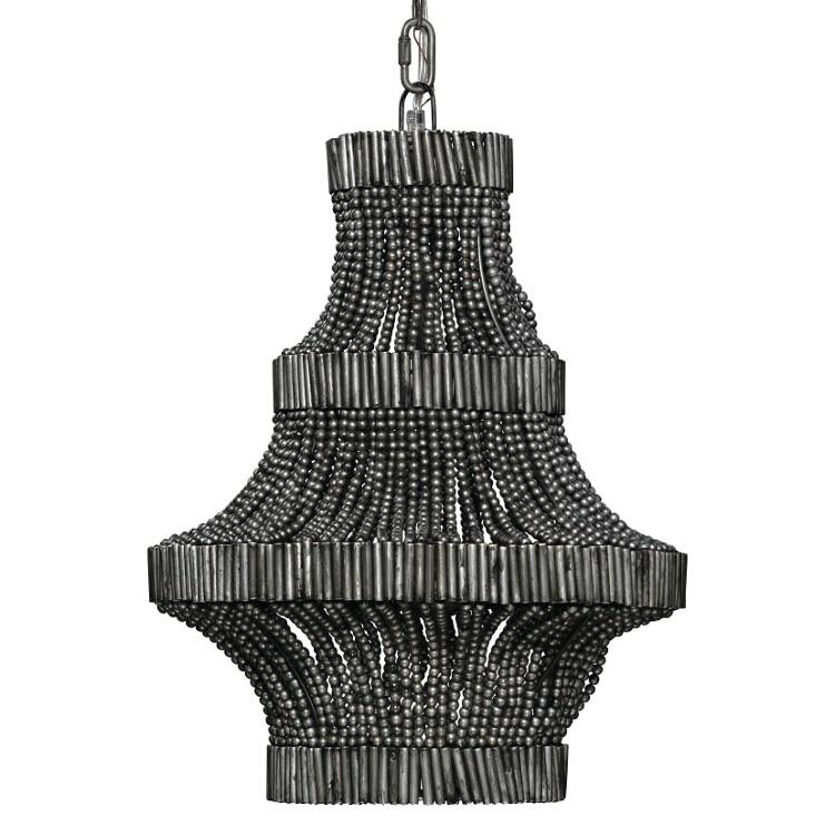silver beaded chandelier