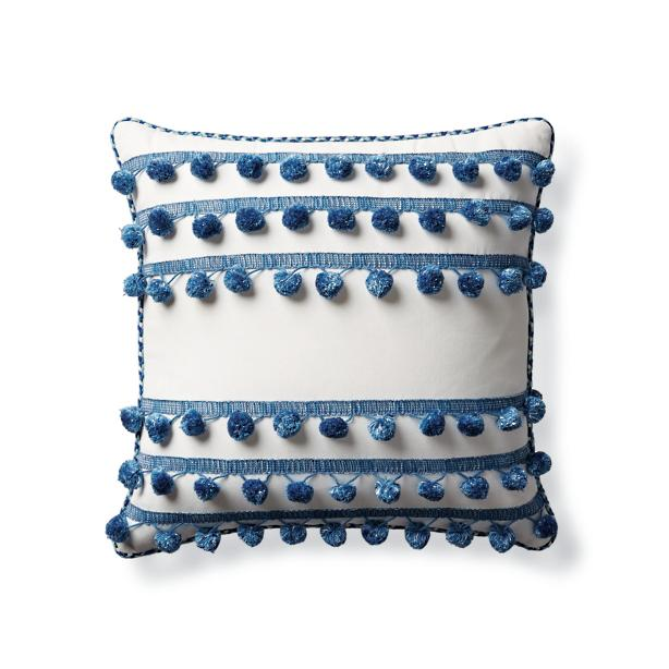 pom pom outdoor pillow