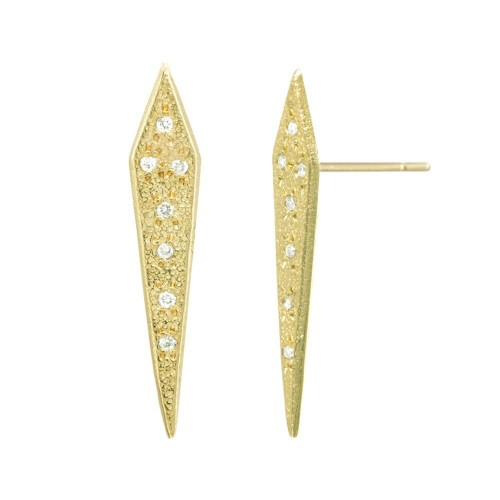 gold + diamond dagger studs