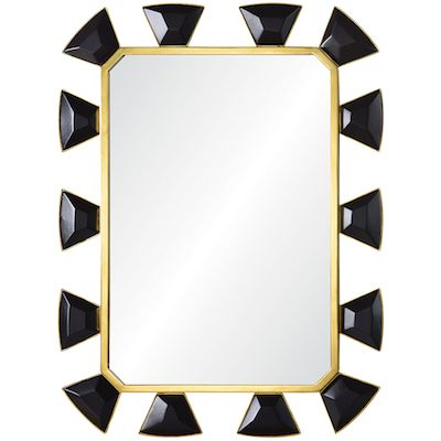 leather + burnishes brass mirror