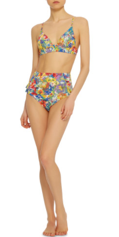 stella mccartney floral high waist bikini