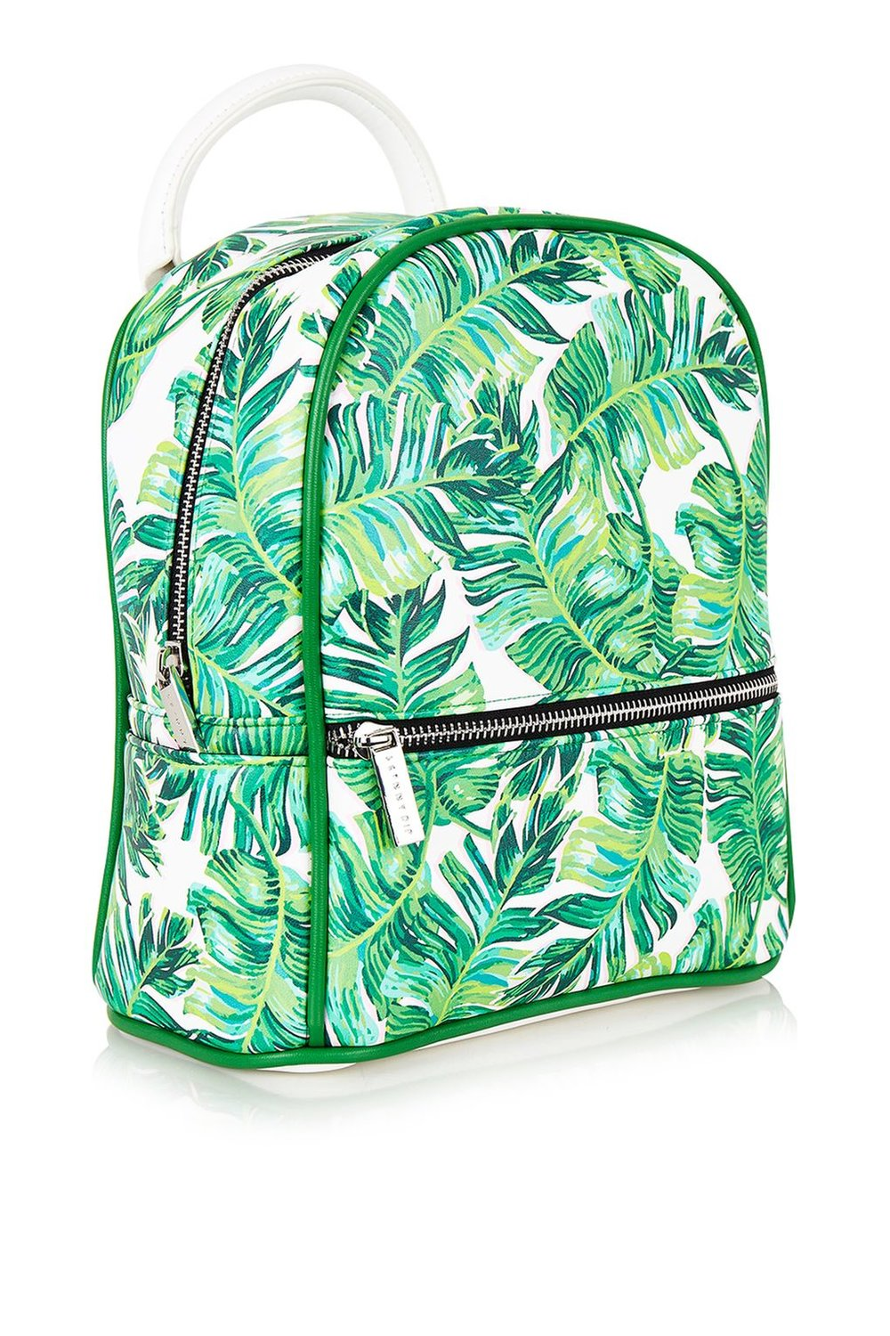 topshop palm print backpack