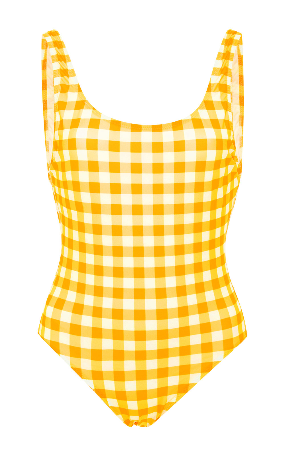 solid & striped yellow gingham one piece