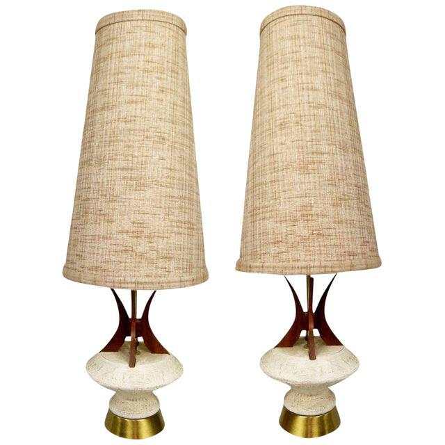 pair of vintage 1950s table lamps