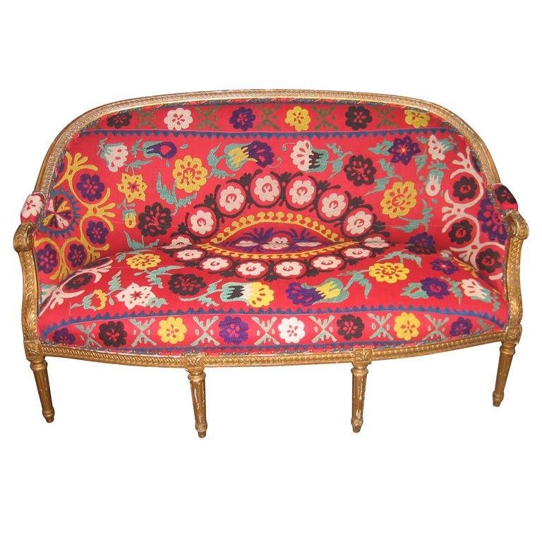 vintage suzani sofa