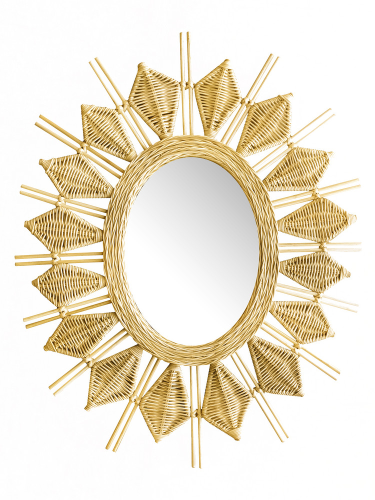 justina blakeney rattan wall mirror
