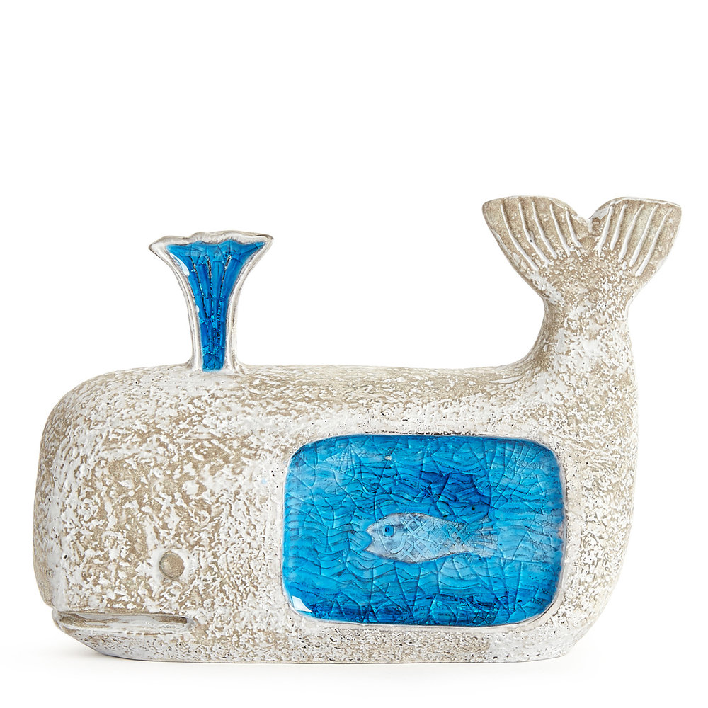 jonathan adler glass decorative whale