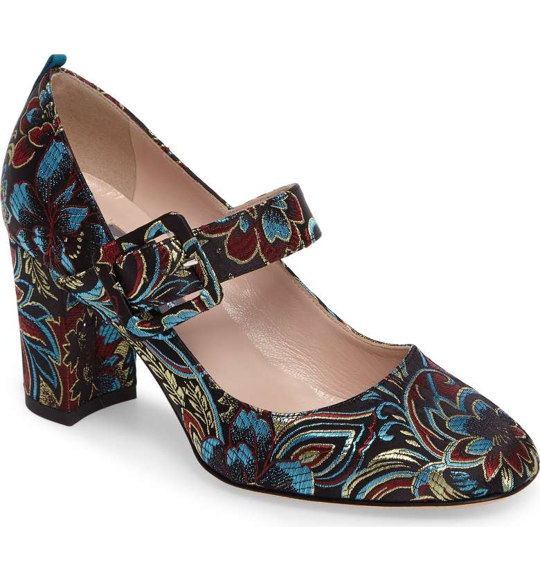 brocade mary jane pump