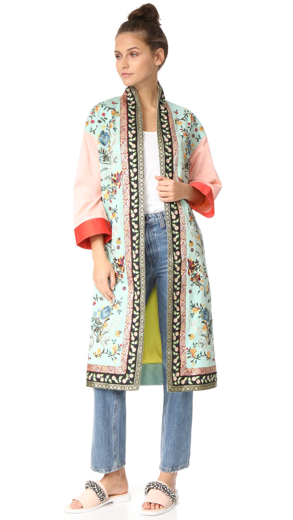 alice + olivia kimono coat