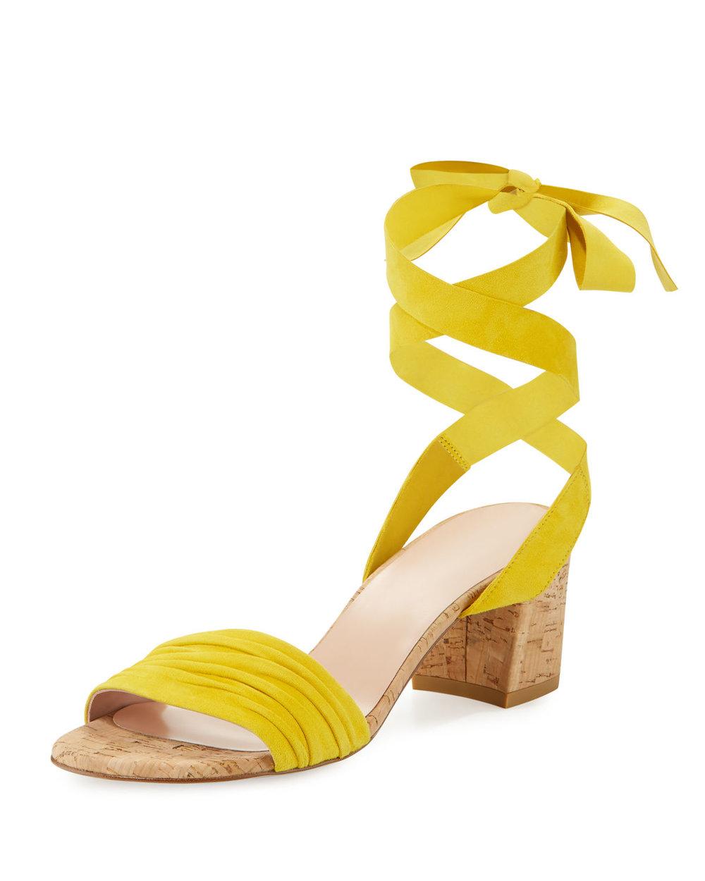 cork + suede sandals